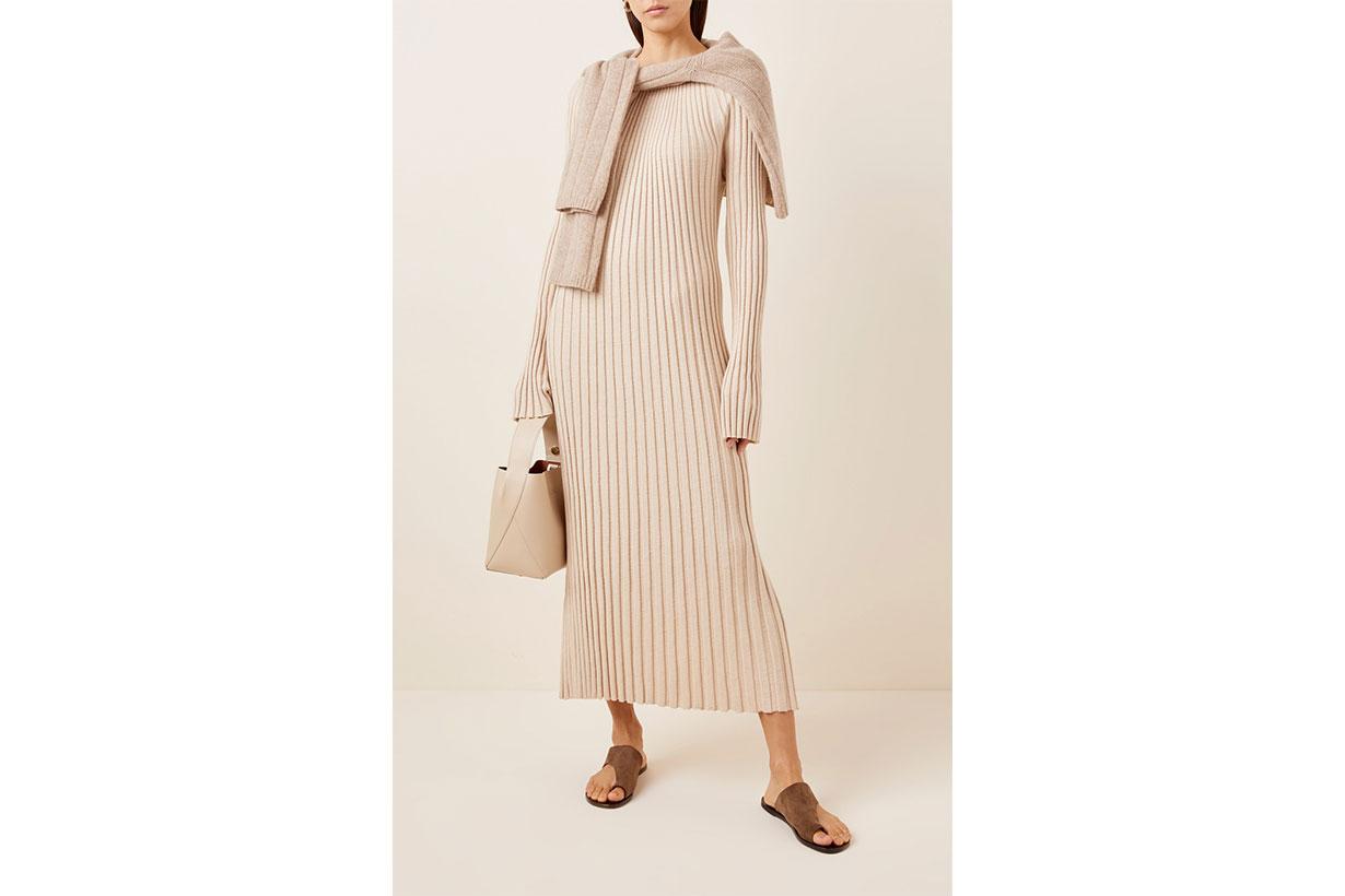 Uturoa Ribbed Silk-Blend Maxi Dress