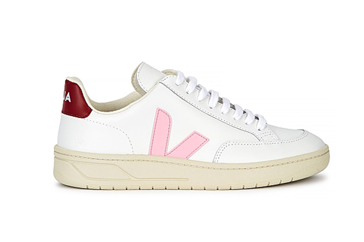 V-12 white leather sneakers