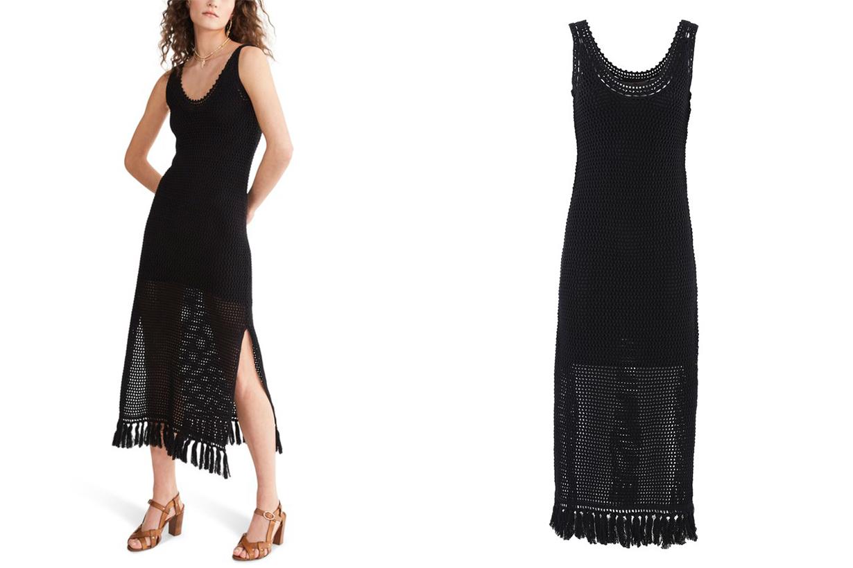 VANESSA BRUNO Cotton and linen knit long Nandi dress