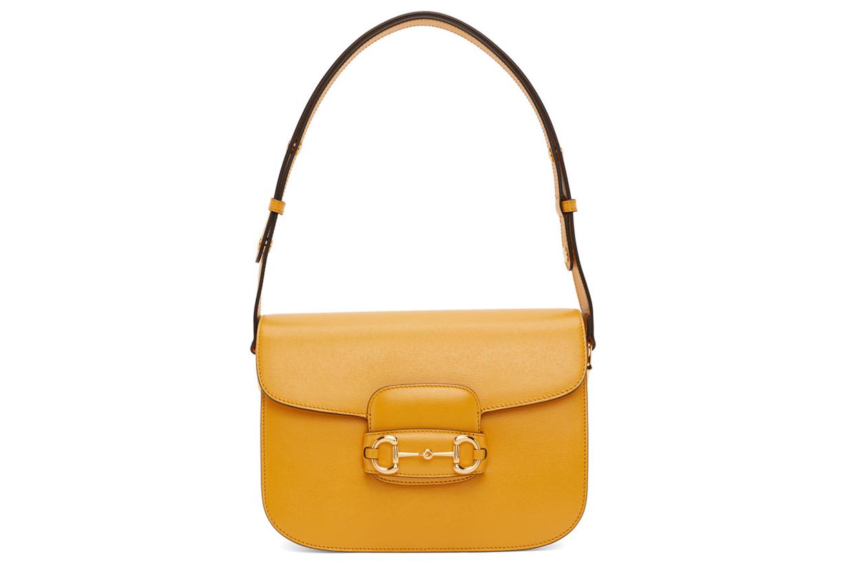 Yellow 'Gucci 1955' Horsebit Shoulder Bag