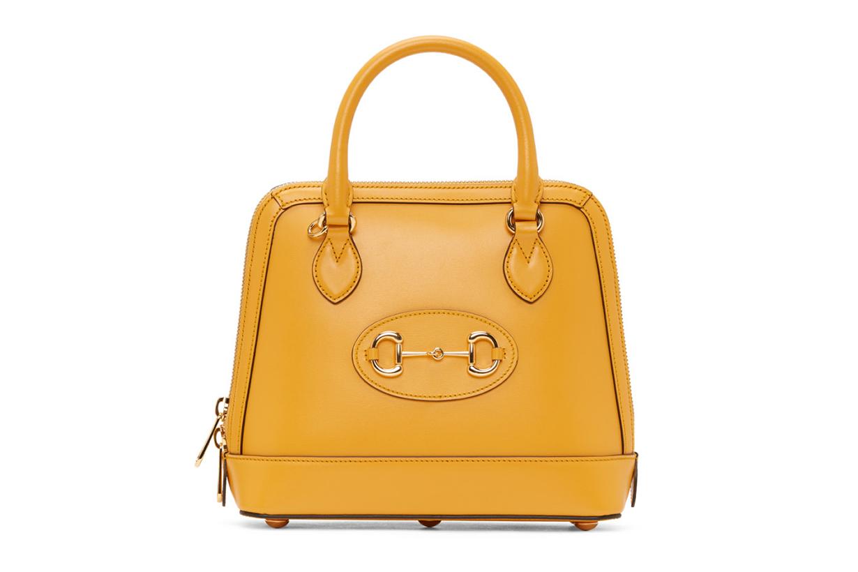 Yellow 'Gucci 1955' Horsebit Top Handle Bag