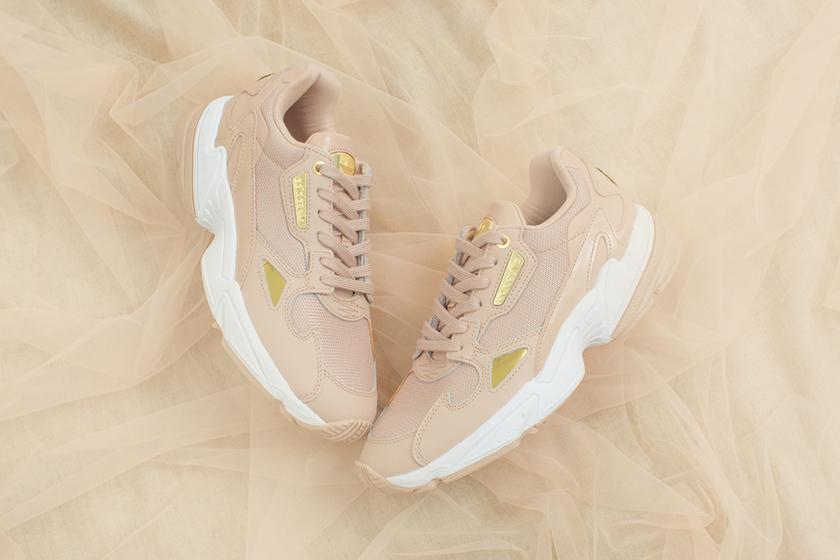 adidas Originals Falcon Milk Tea Color Sneakers