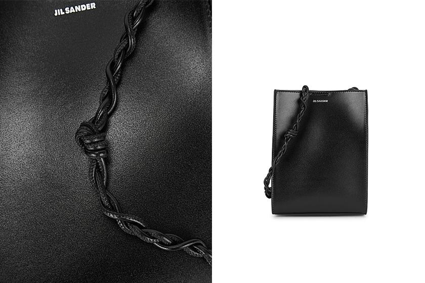 Jil Sander Tangle small mint leather shoulder bag