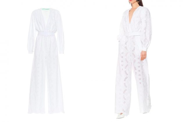 Jun Ji hyun stonehenge commercial dress jumpsuit off-white