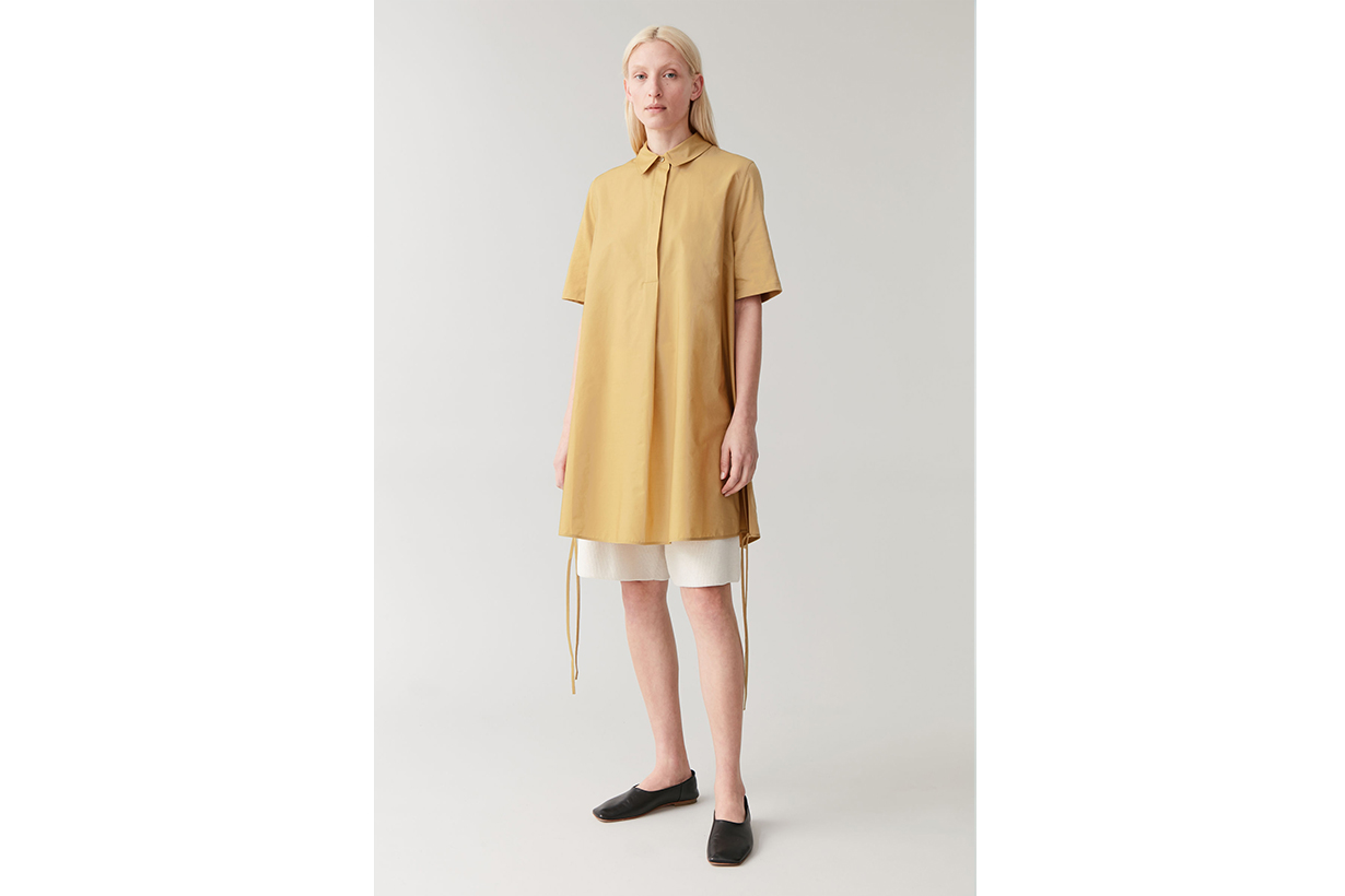 A-LINE COLLARED SHIRT DRESS