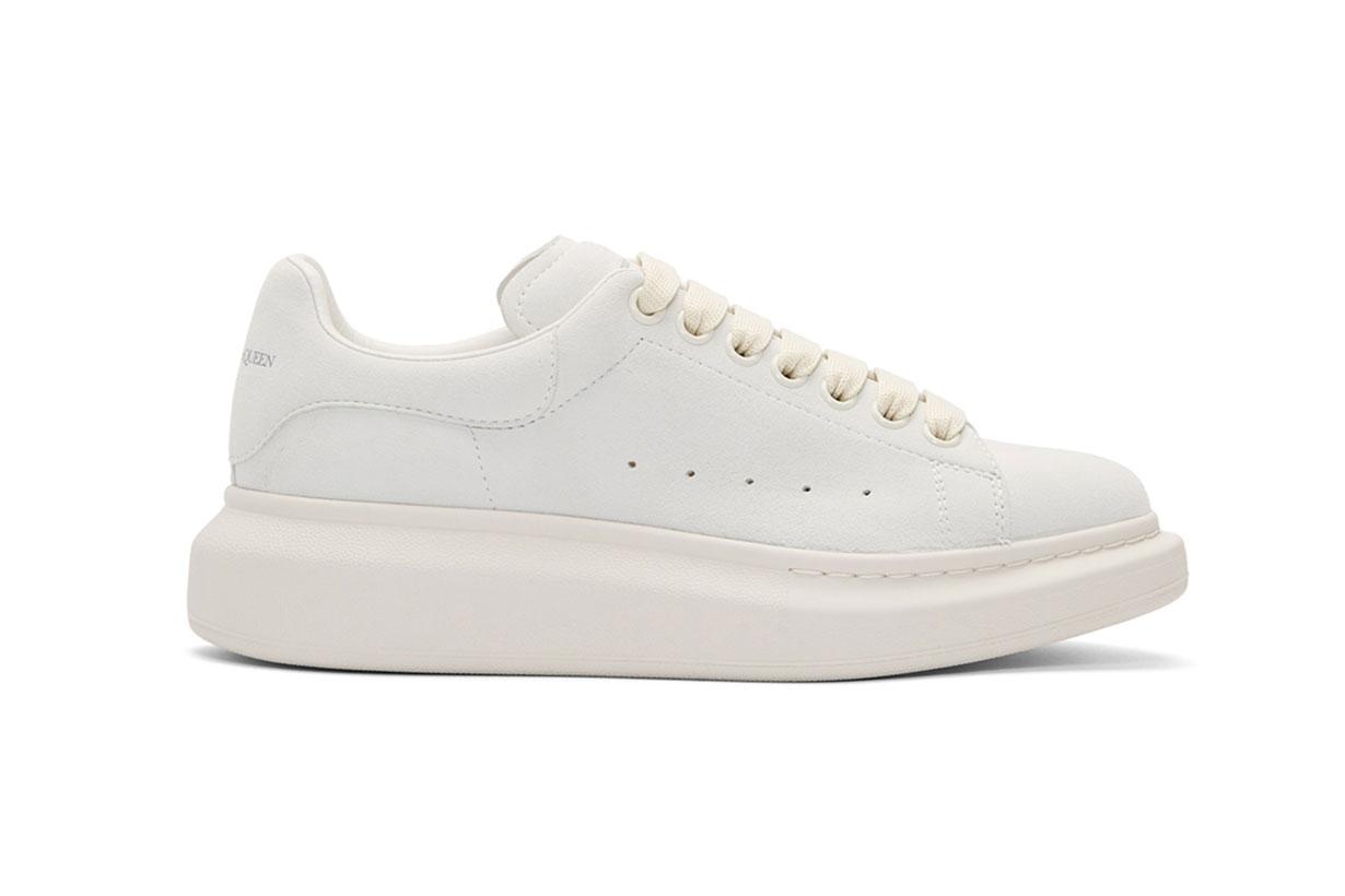 Alexander McQueen Grey Suede Oversized Sneakers