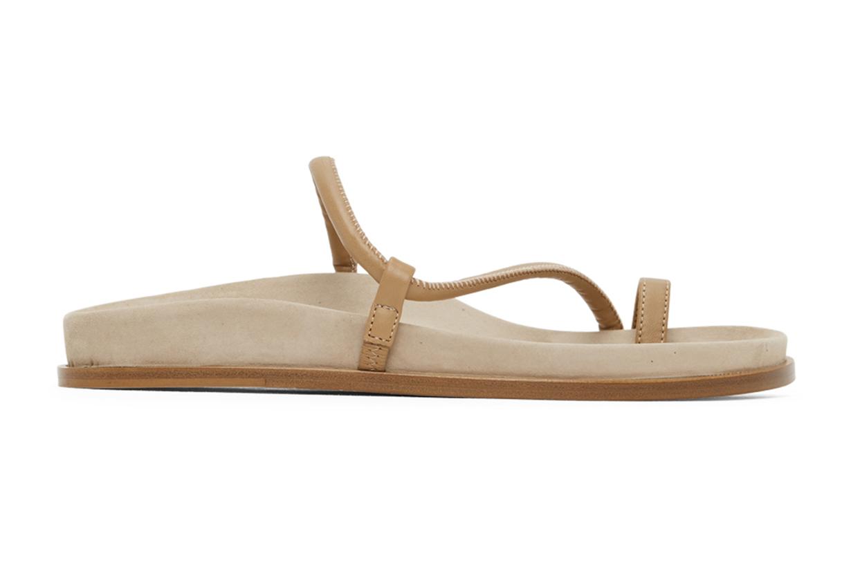 Beige Bari Fussbett Sandals
