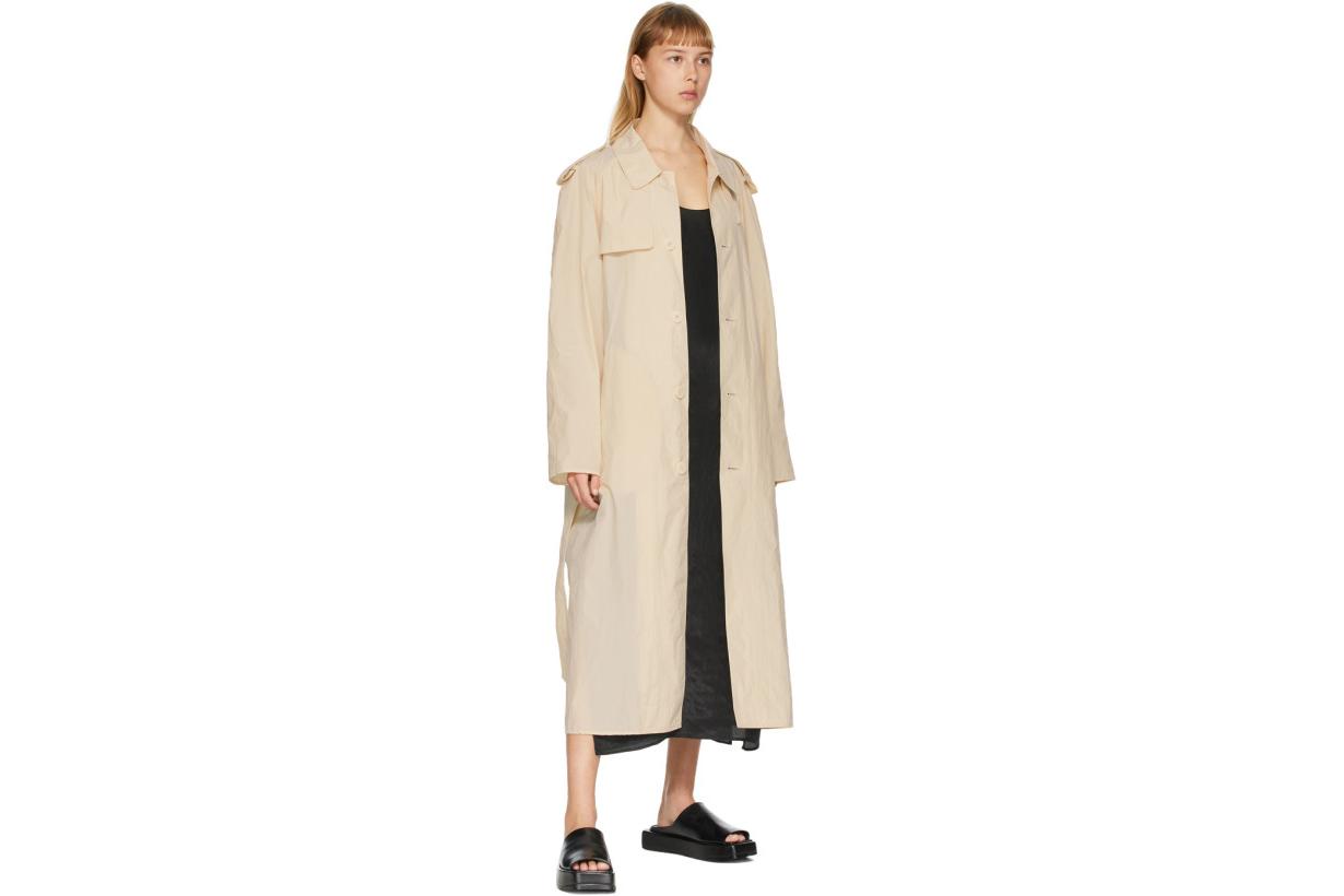 Beige Light Trench Coat