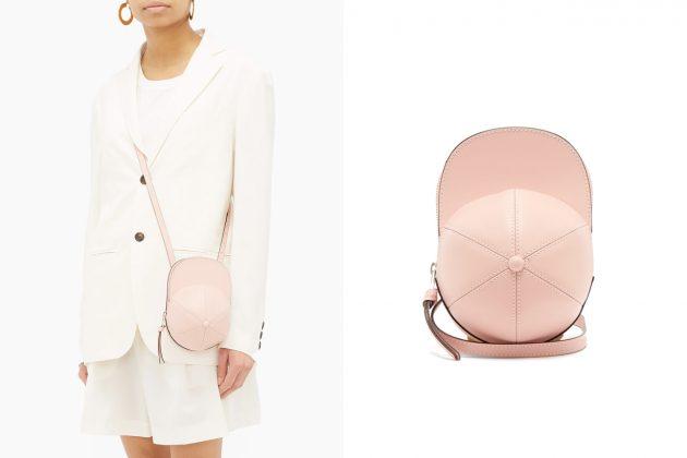jw anderson cap bag small size midi pink color