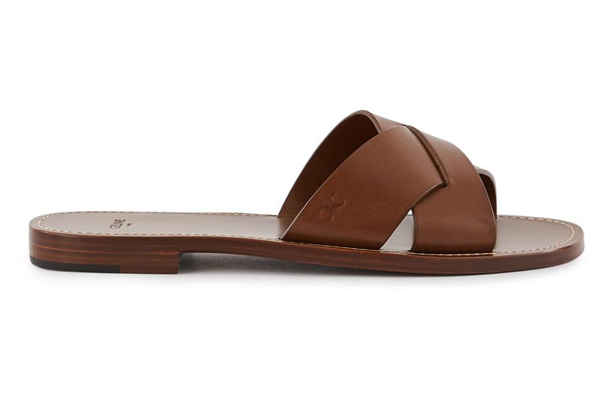 CELINE Lerins Sandals in Vegetable-tanned Calfskin