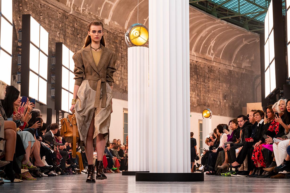 Berit Heitmann walks the runway during the Chloe Womenswear Spring/Summer 2020 show as part of Paris Fashion Week on September 26, 2019 in Paris, France.