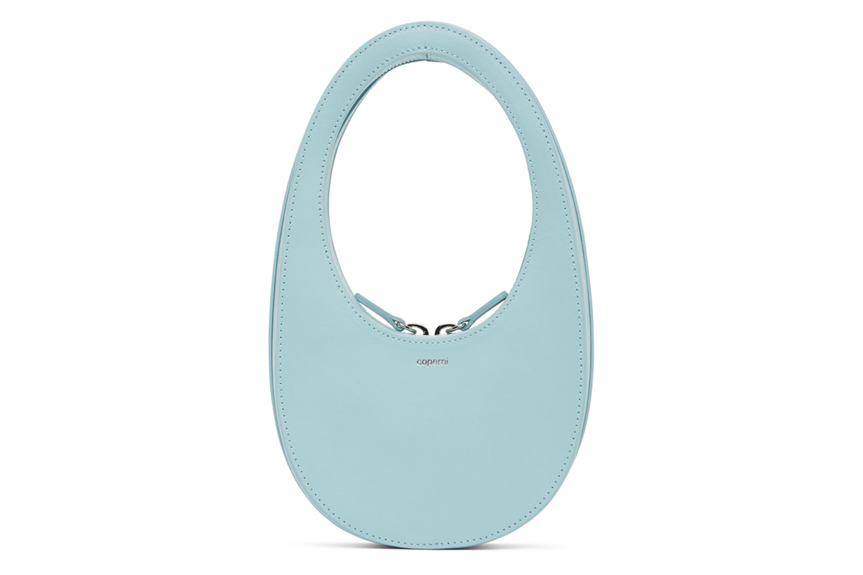Coperni Blue Mini Swipe Oval Bag