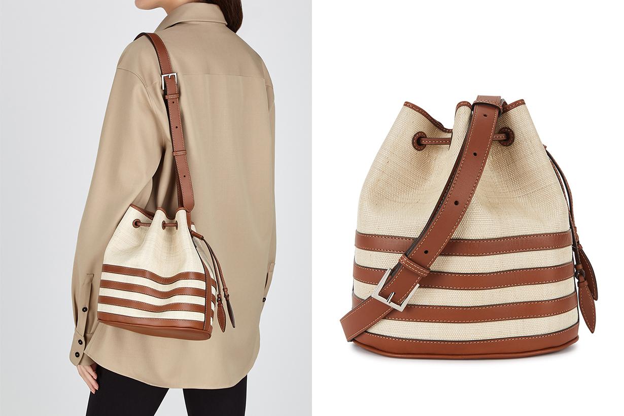 HUNTING SEASON  The Drawstring woven platano shoulder bag