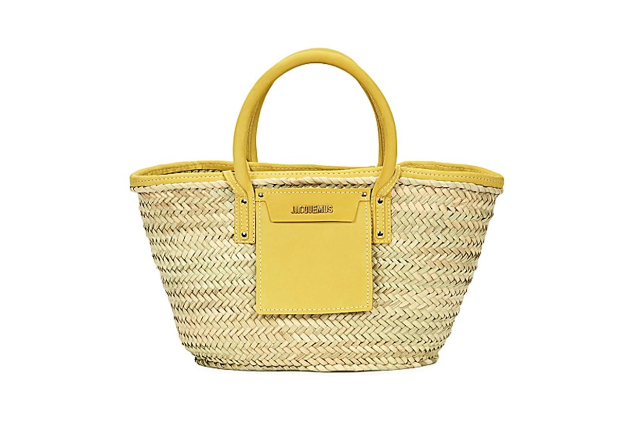 JACQUEMUS Le Panier Soleil raffia basket bag