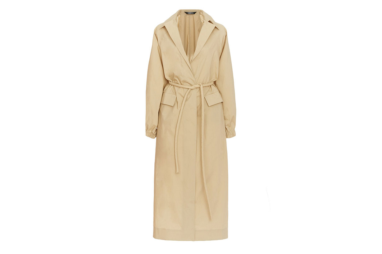 Kassl Belted Cotton Trench Coat