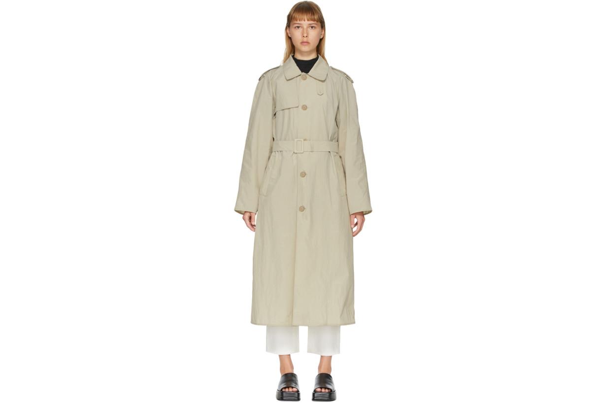 Khaki Light Trench Coat