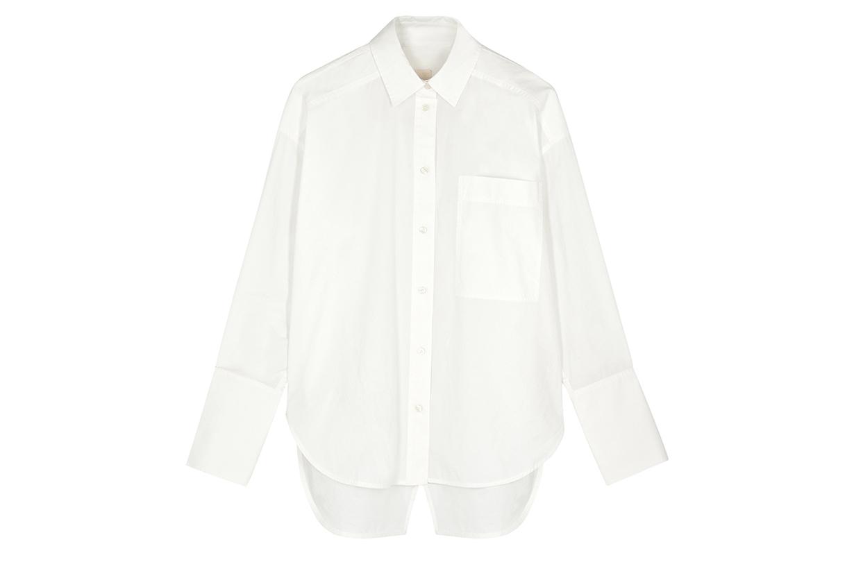 LEE MATHEWS Workroom white poplin shirt
