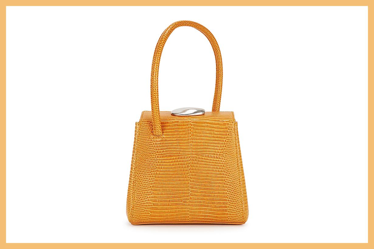LITTLE LIFFNER Mademoiselle orange leather top handle bag