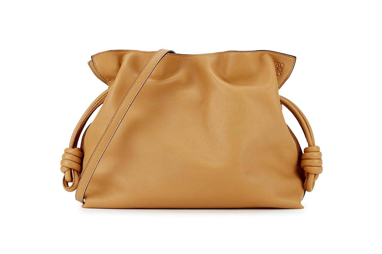 LOEWE Flamenco brown leather clutch