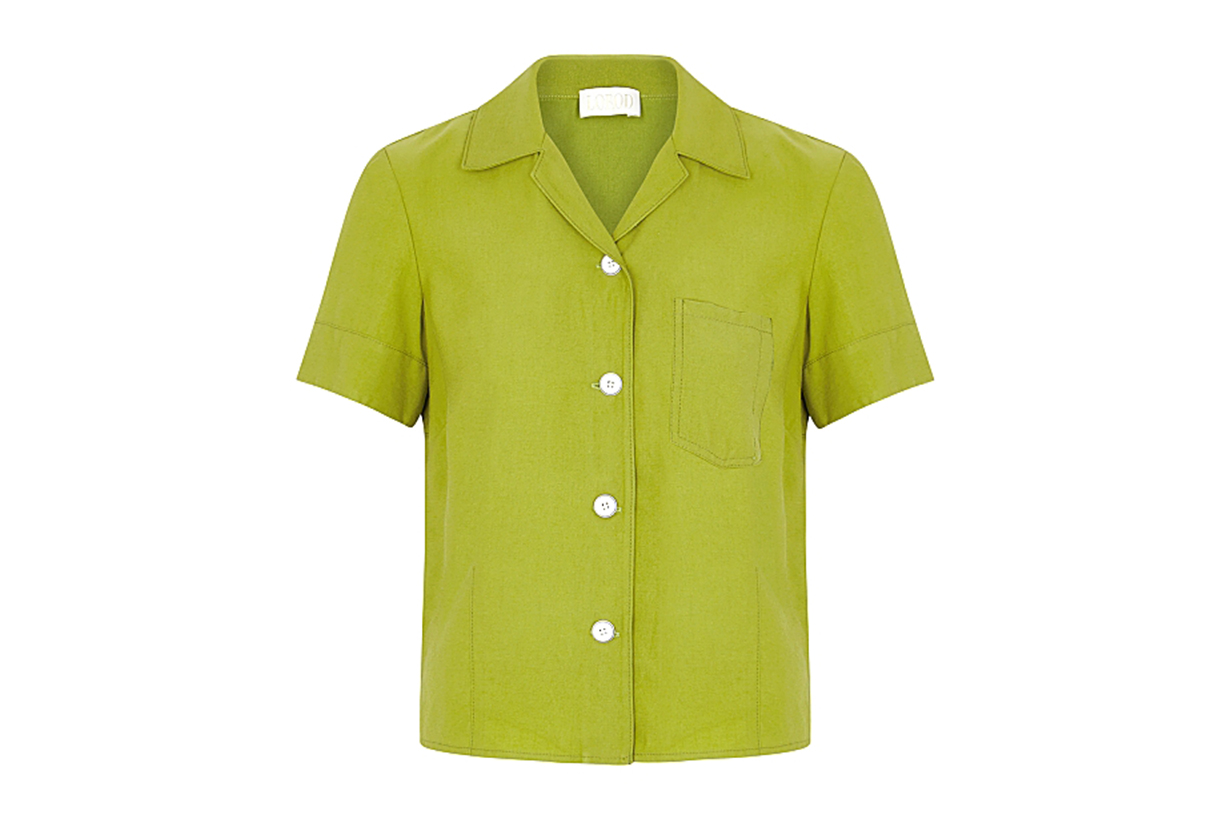 LOROD Green brushed twill shirt