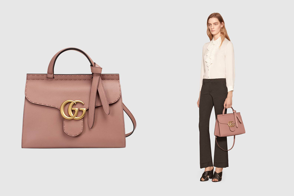 MAMAMOO Hwasa Gucci GG Marmont leather top handle bag Alessandro Michele Celebrities Handbag Sold Out Long Term