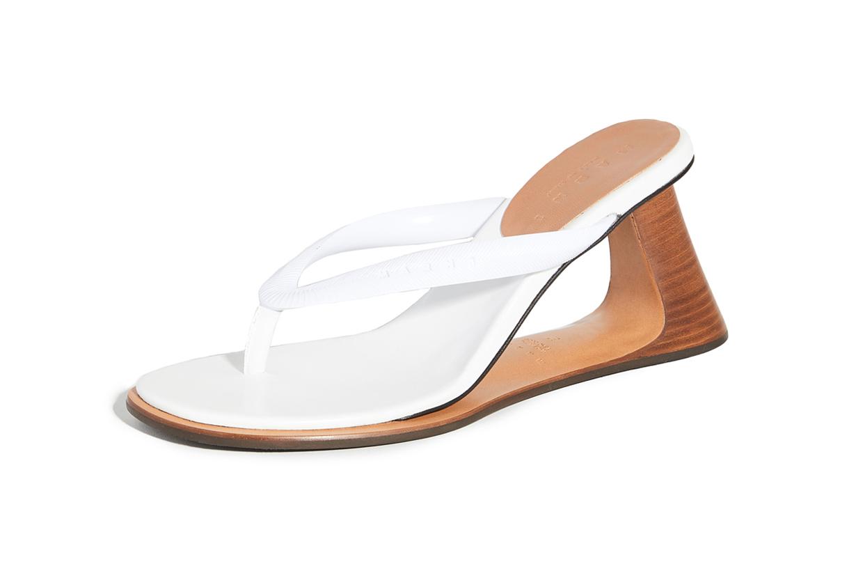 Marni Wooden Heel Flip Flops