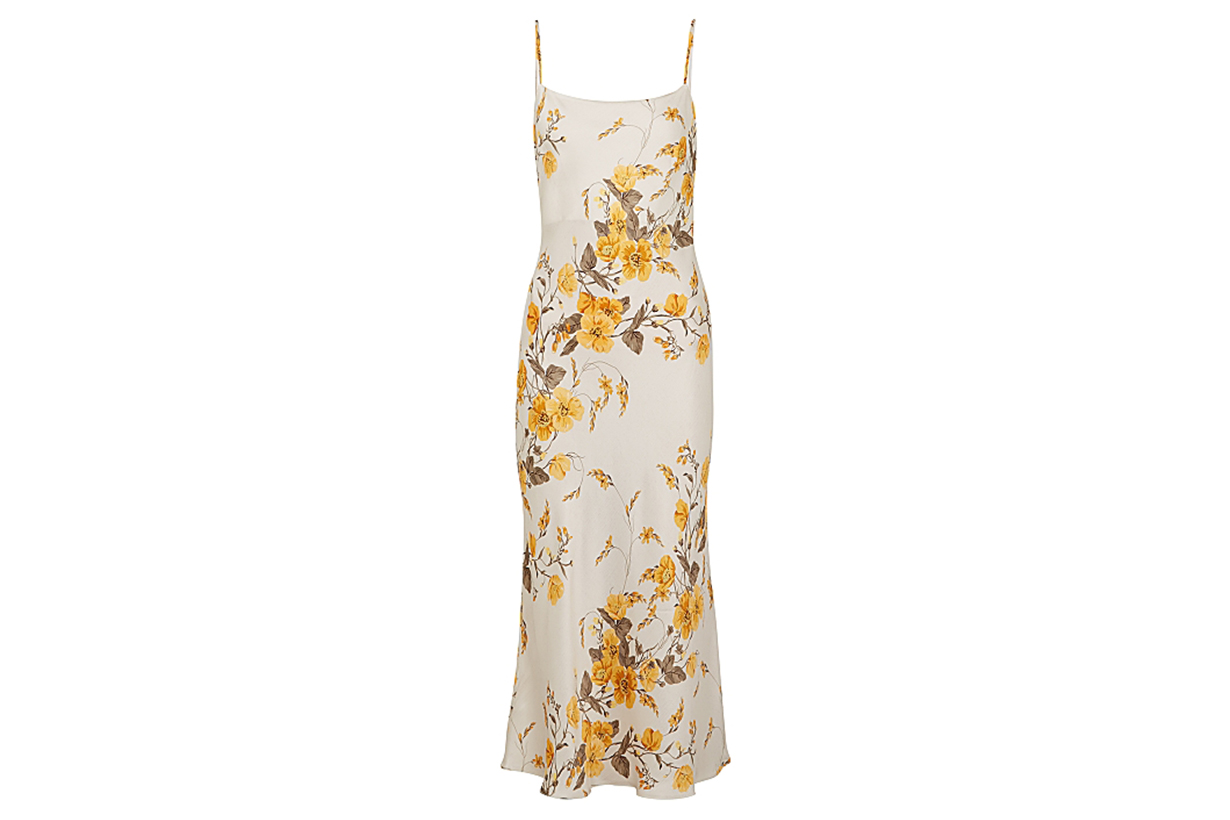 Matilde floral-print satin midi dress