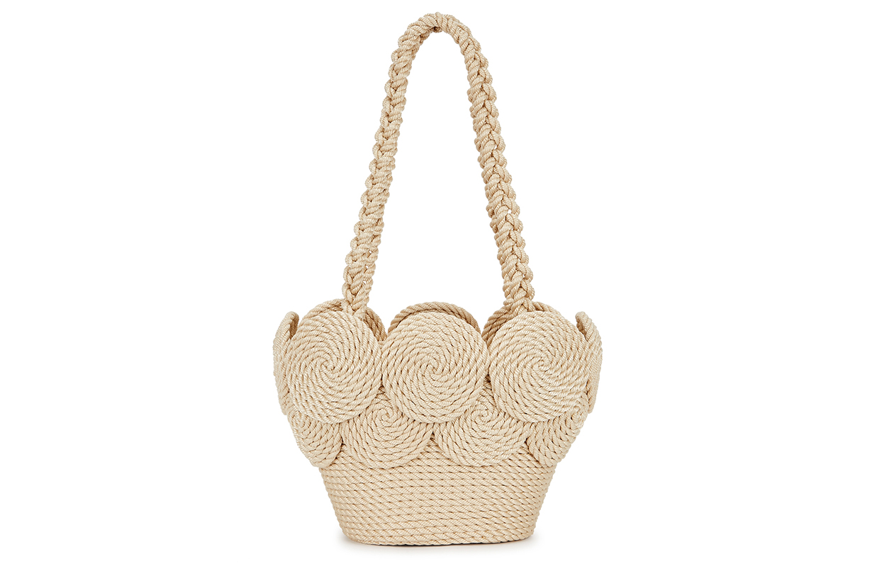 MEHRY MU  Chacha brown rope basket tote bag