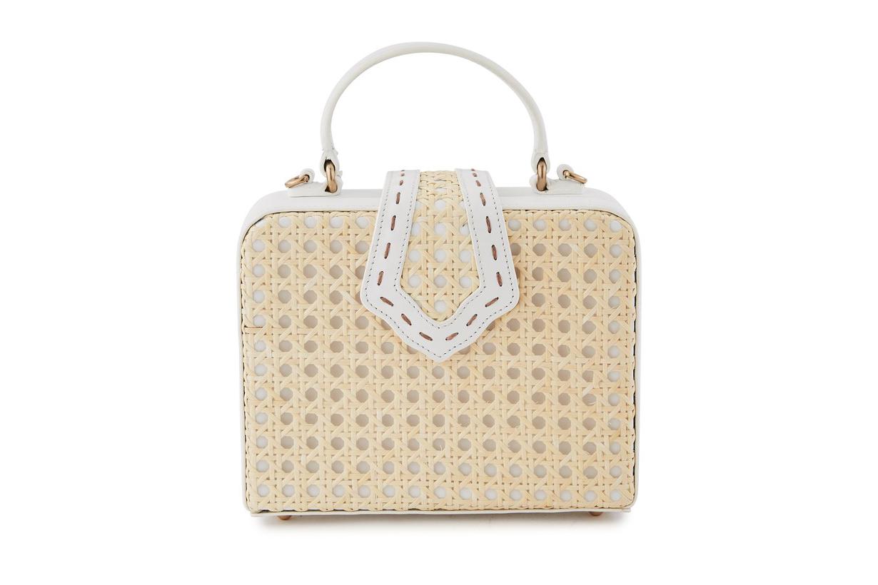MEHRY MU Mini Fey rattan handbag