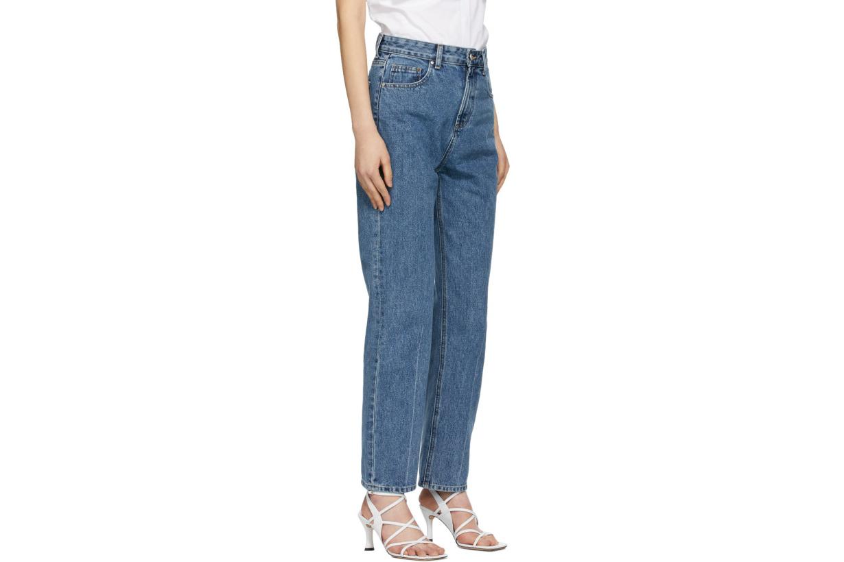 Indigo High-Waist Regular Jeans