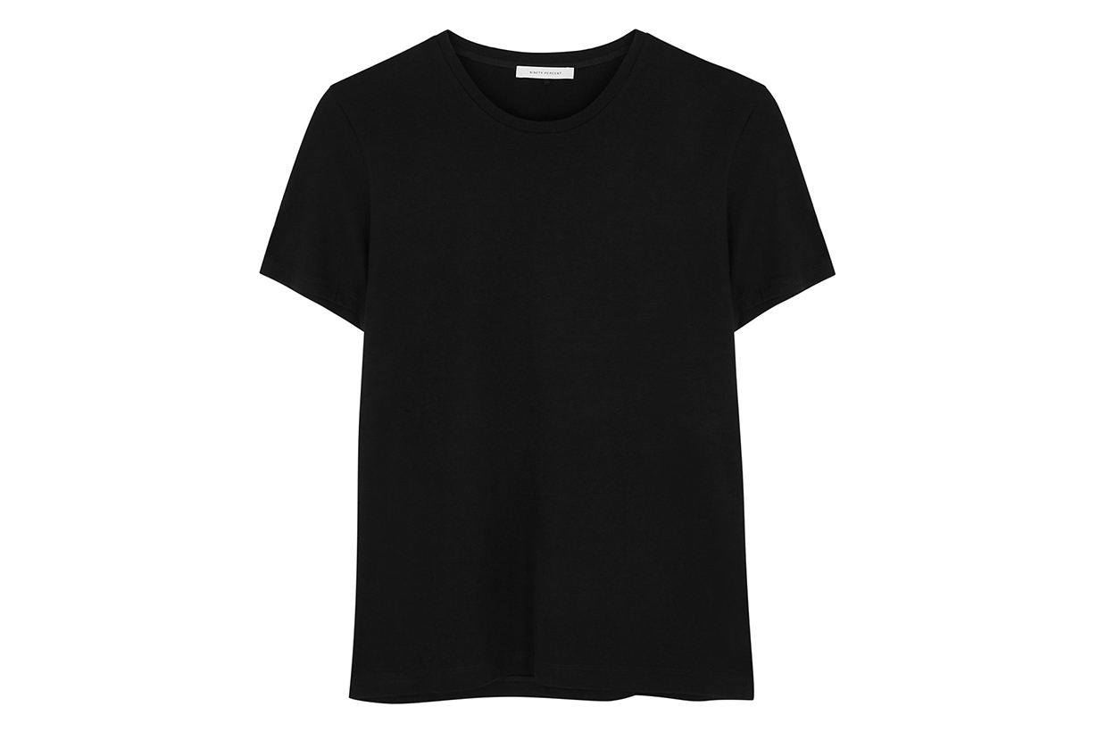 NINETY PERCENT Black organic cotton T-shirt
