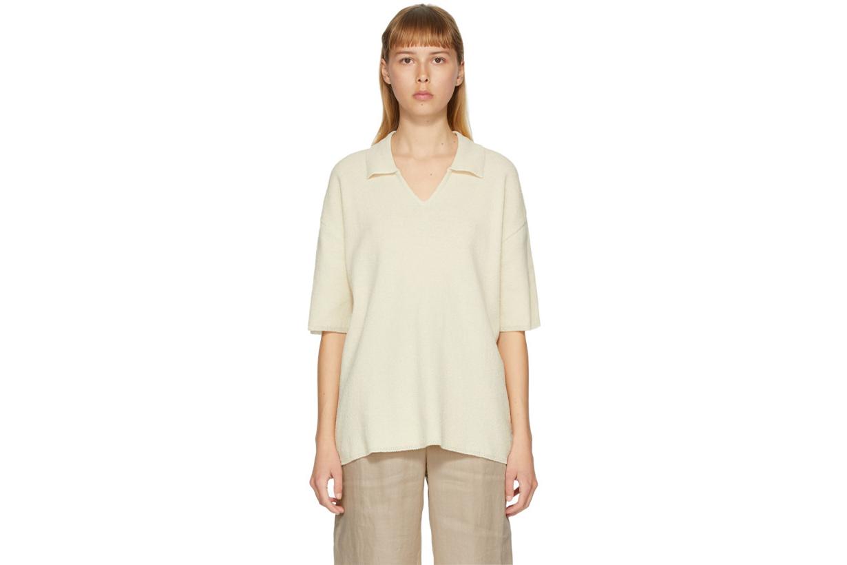 Off-White Collar V-Neck Sweater