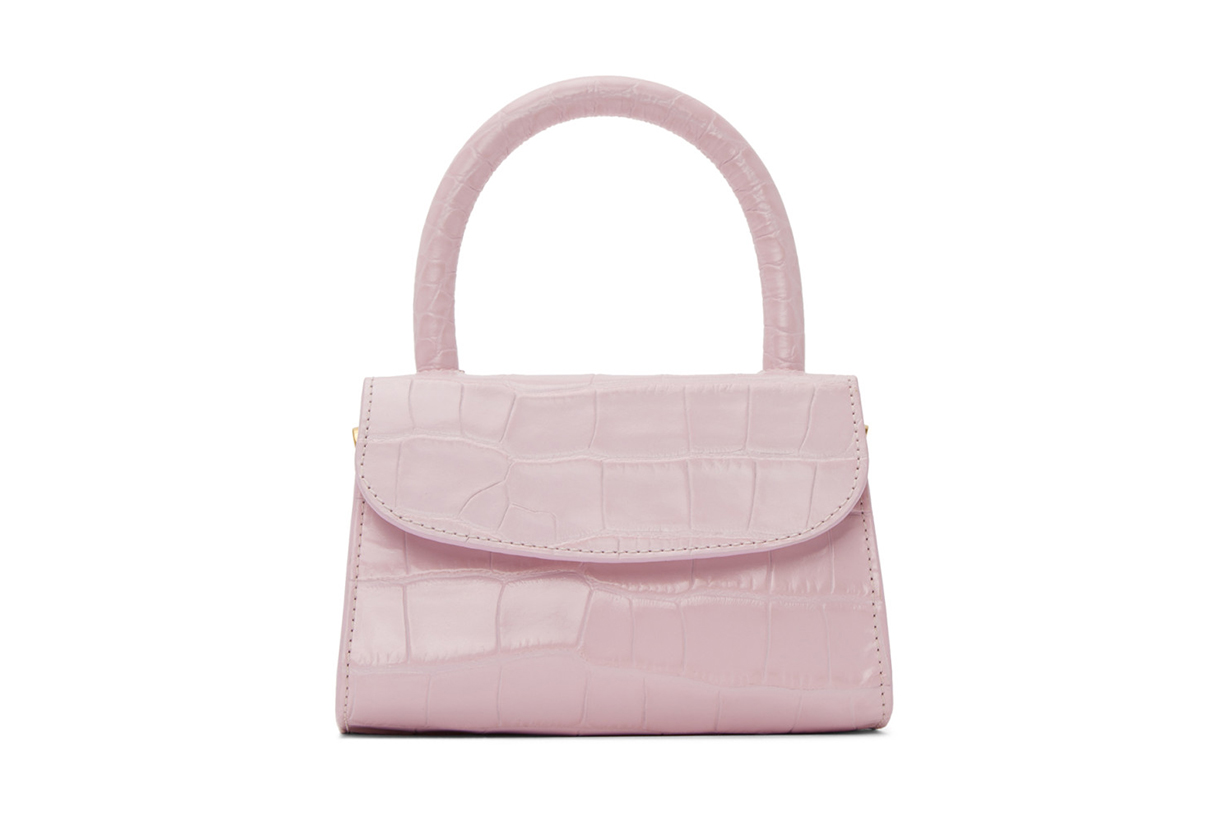 Pink Croc Mini Top Handle Bag