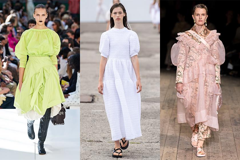 puff-sleeve-trend-2020-ss-Molly Goddard / Cecilie Bahnsen / Simone Rocha