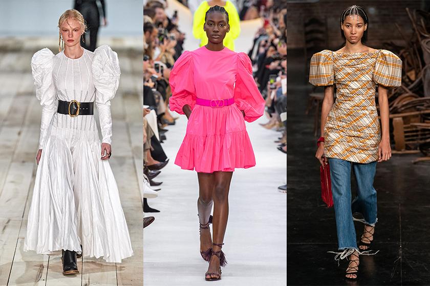 puff-sleeve-trend-2020-ss-Alexander McQueen / Valentino / Khaite