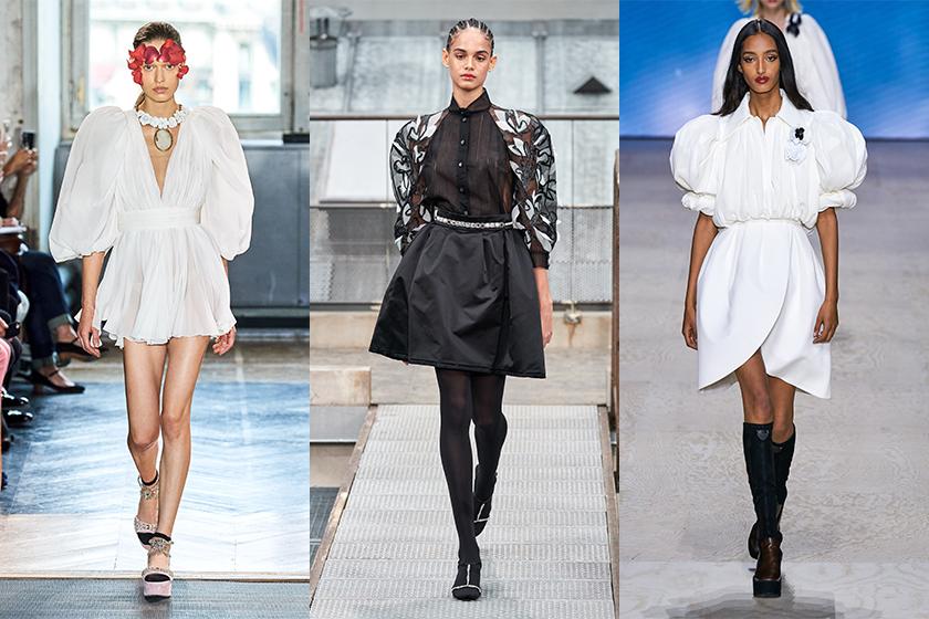 puff-sleeve-trend-2020-ss-Giambattista Valli / Chanel / Louis Vuitton