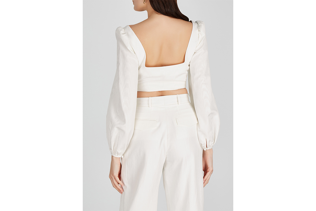 RACIL Pat ivory cropped twill top