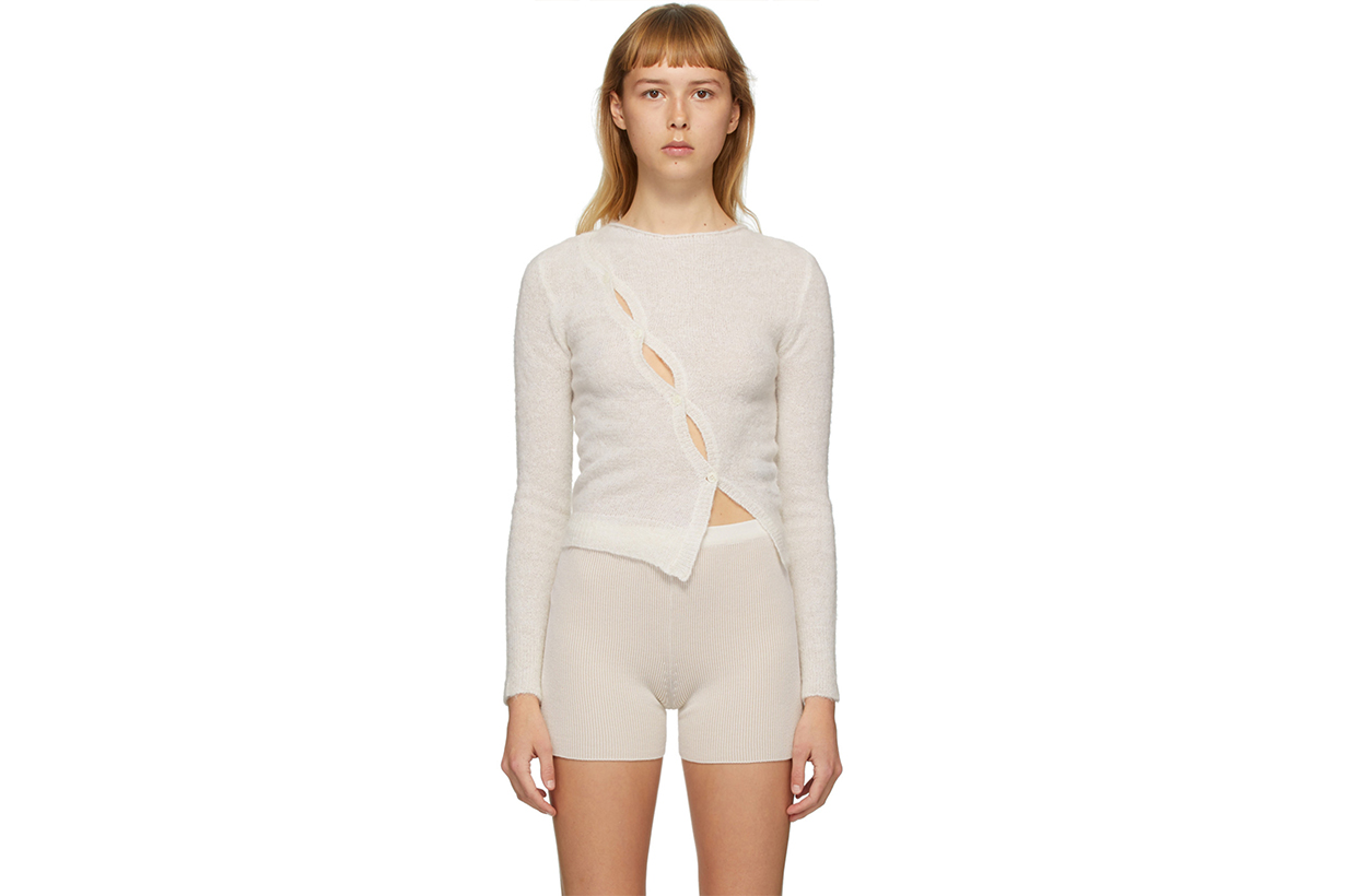 jacquemus loungewear capsule collection shirt bra shorts ssense online release