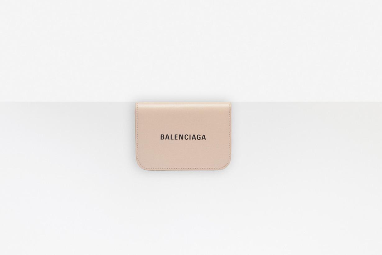 Balenciaga wallets leather card minimalist style
