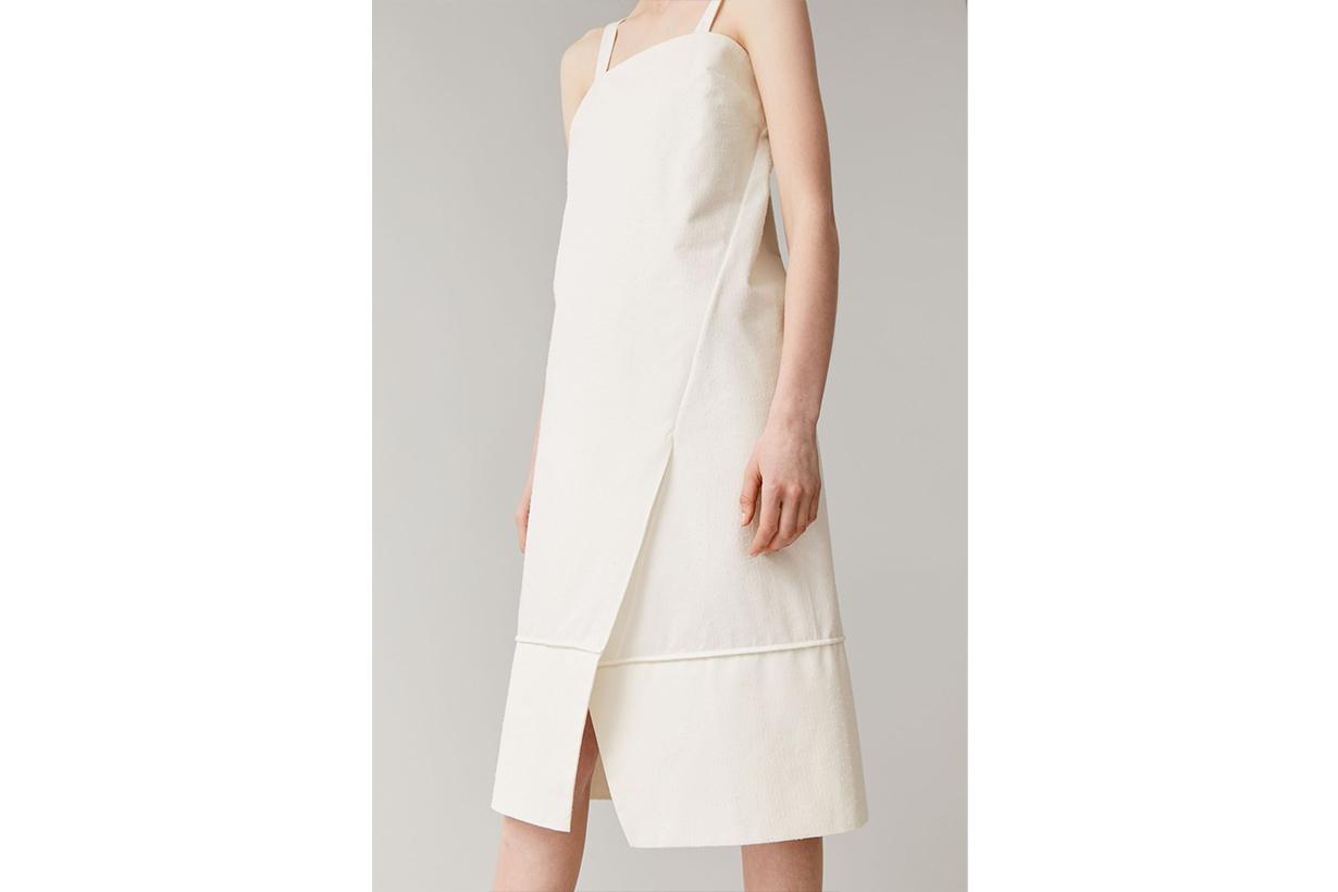 SLEEVELESS MID-LENGTH COTTON DRESS