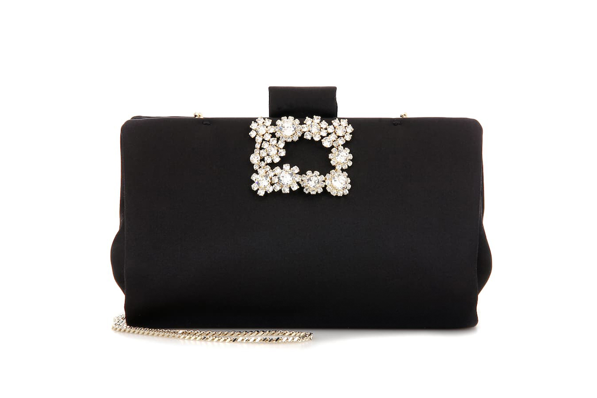 Soft Flowers embellished clutch