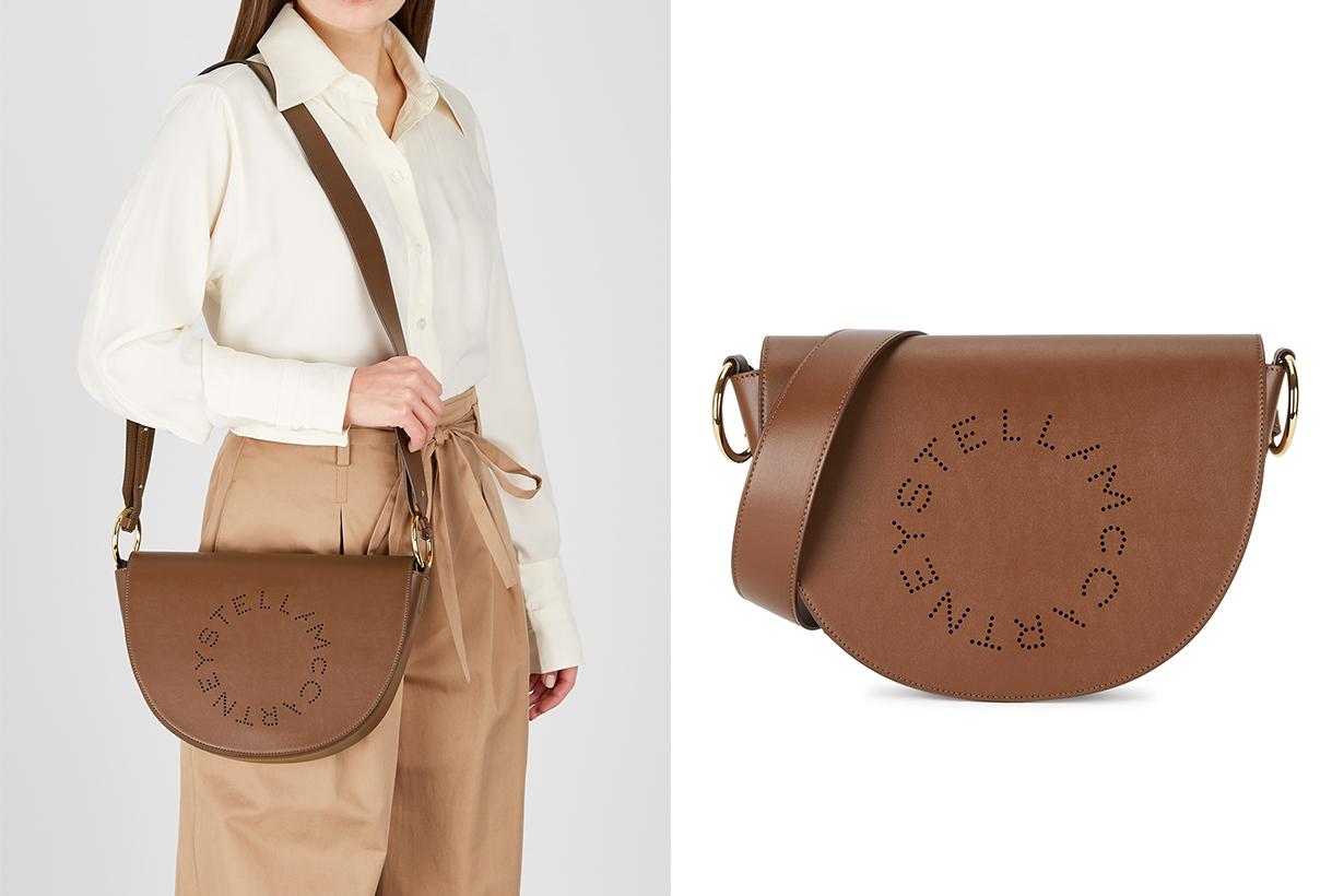 STELLA MCCARTNEY  Marlee Logo brown shoulder bag