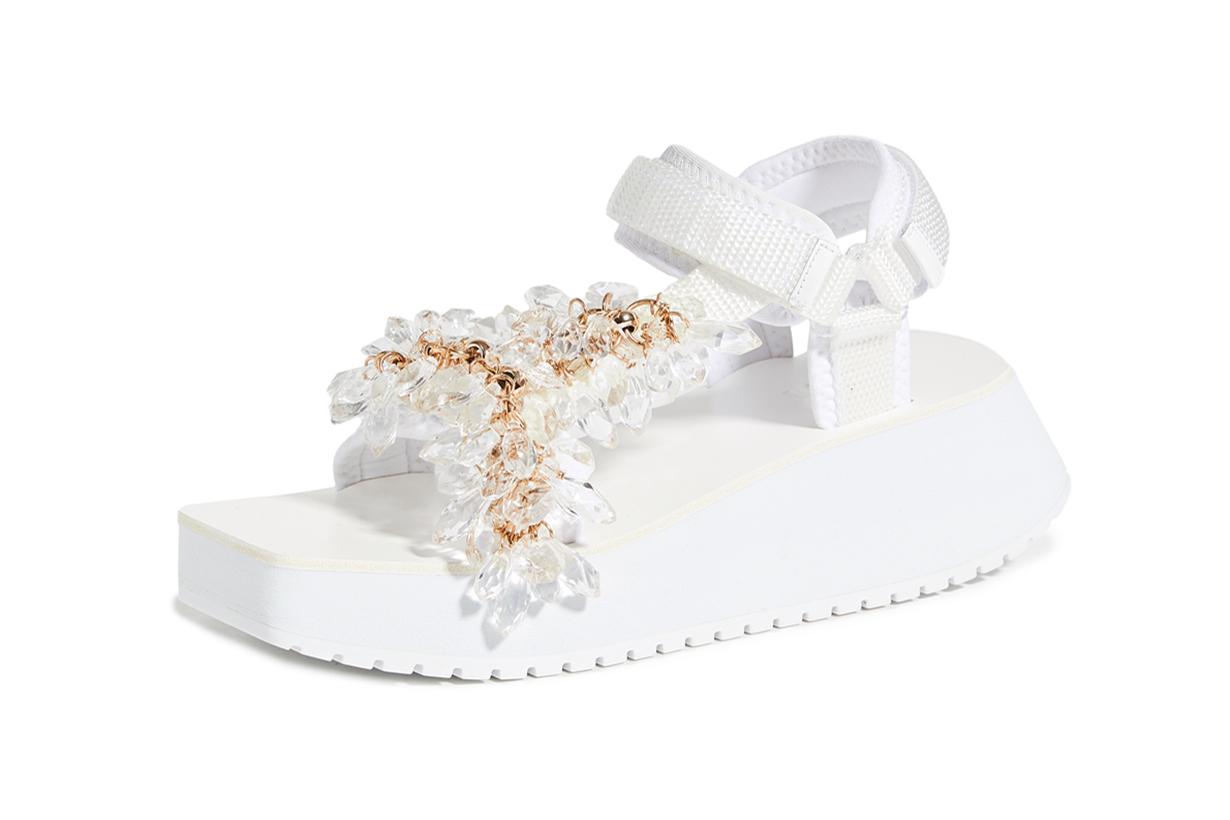 Tibi Ping Jeweled Sandals