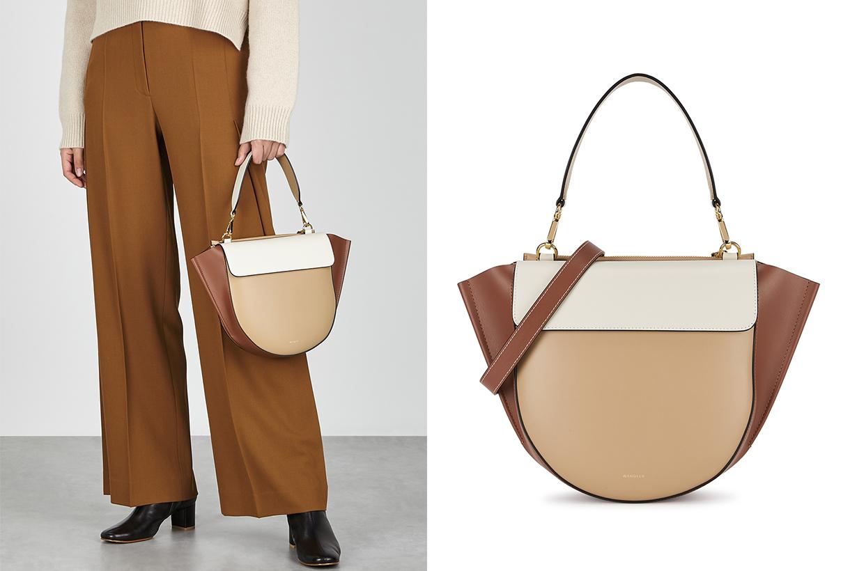 WANDLER Hortensia medium leather top handle bag