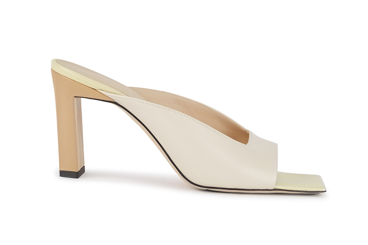 WANDLER Isa 85 off-white leather sandals