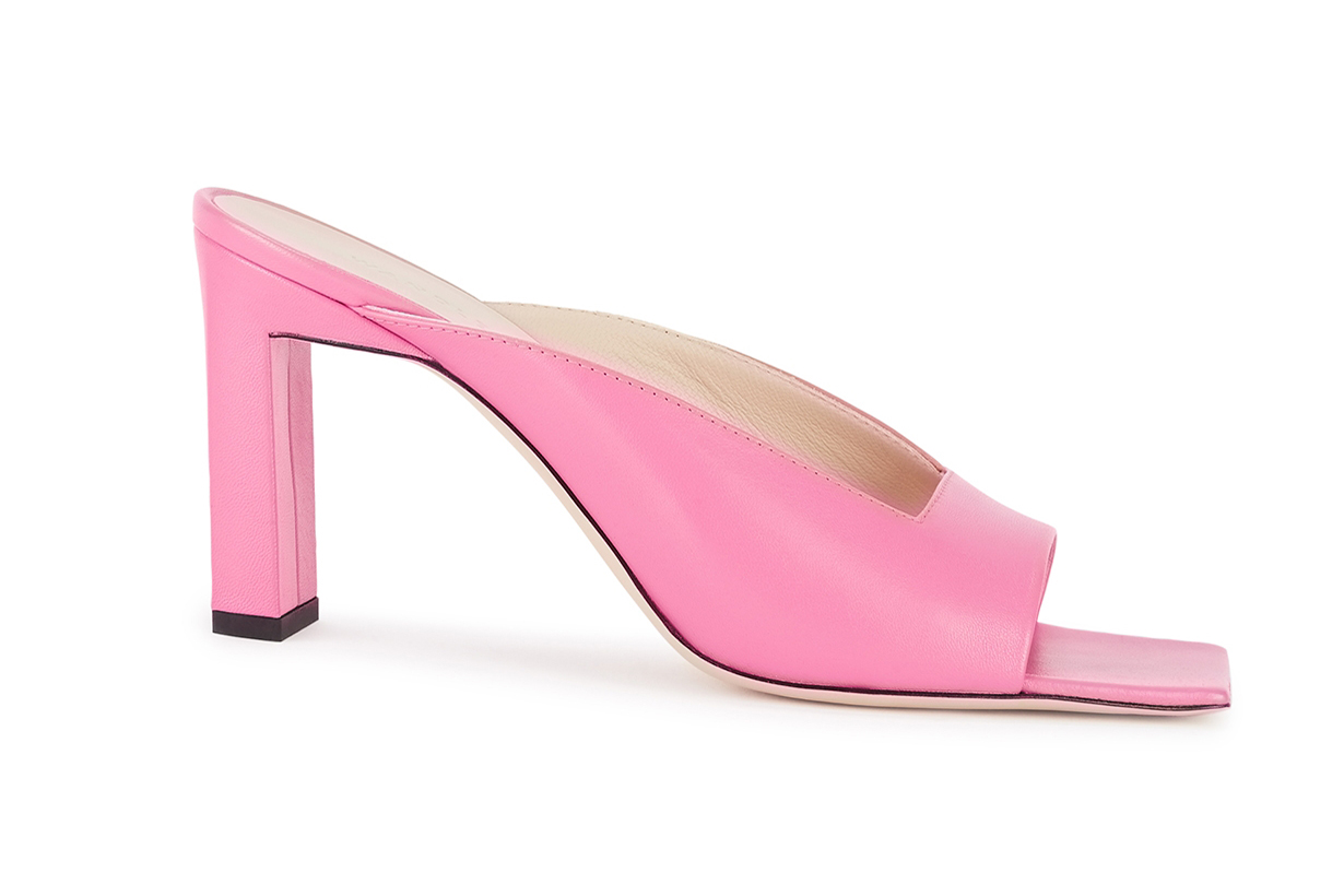 WANDLER Isa 85 pink leather sandals