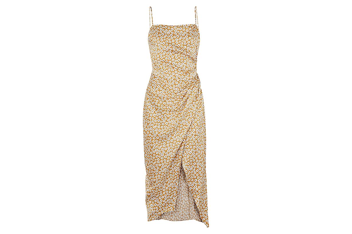 Zoe floral-print silk midi dress