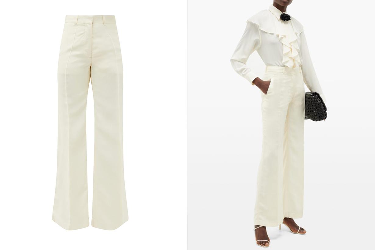 white pants fashion trend online shopping 2020
