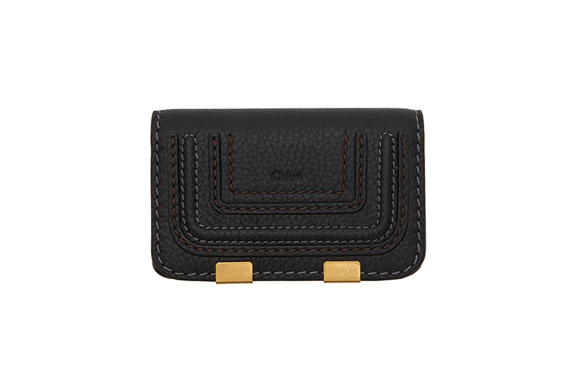 Black Minimalist Chain Wallet Mini Purse 15 SSENSE