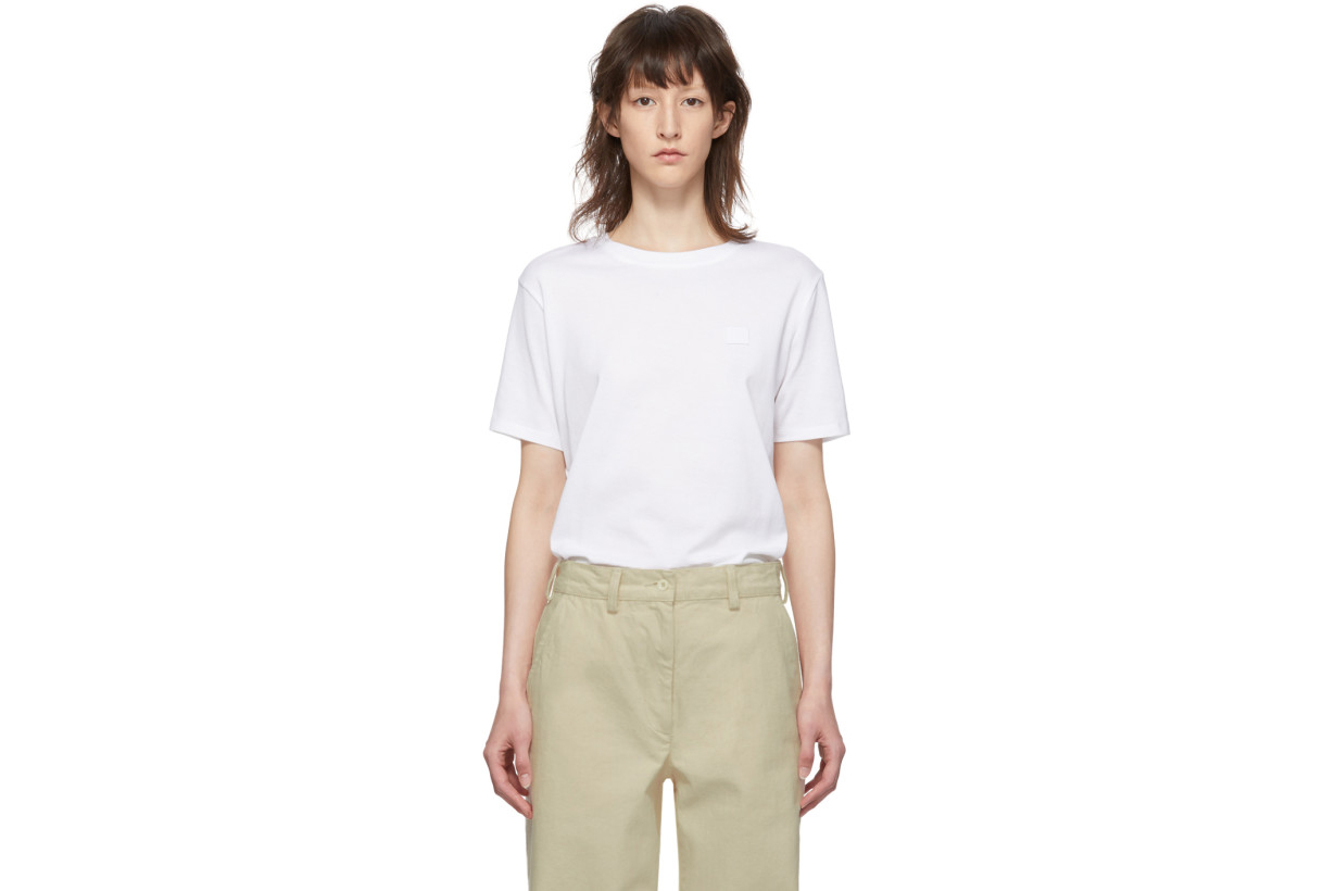 Acne Studios White Patch T-Shirt